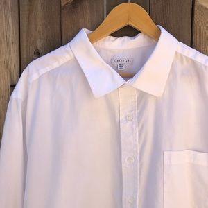 George White Men's Button Down Shirt, Size 3XL